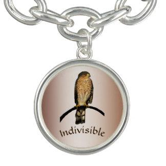Brown Hawk Indivisible Charm Bracelet