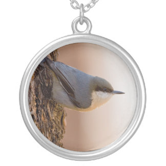 Brown-headed Nuthatch Silver Plated Necklace