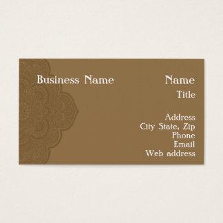 Brown Henna Business Card