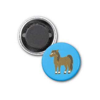 Brown Horse 3 Cm Round Magnet
