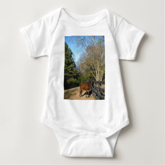 Brown Horse against a Fence Shirt