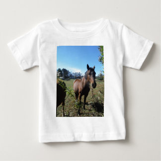 Brown Horse against blue sky Tshirt