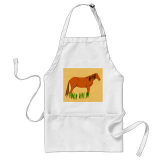 Brown Horse Apron