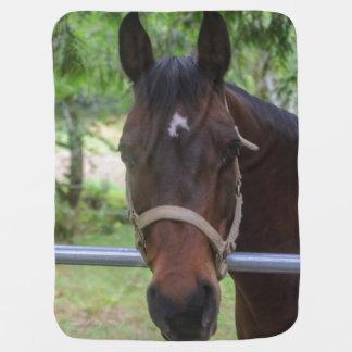 Brown Horse Baby Blanket