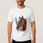 Brown horse, close-up shirt