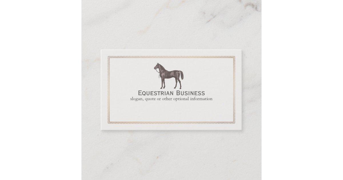 Brown Horse Equestrian Business Card   Zazzle.co.uk