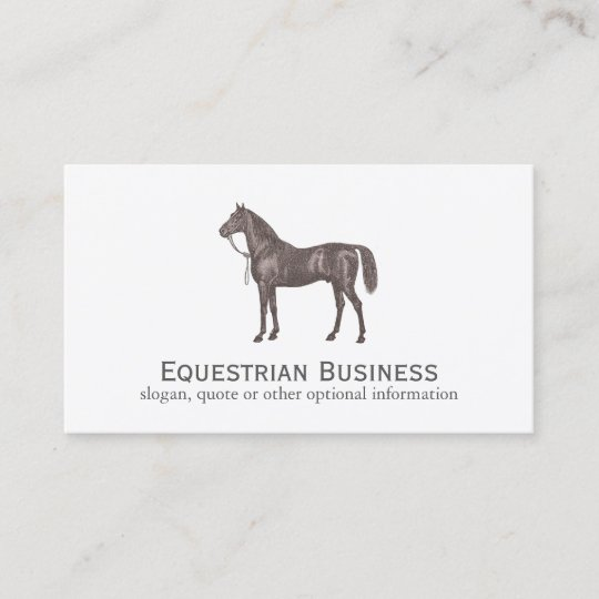 Brown horse equestrian simple business card zazzle brown horse equestrian simple business card reheart Gallery