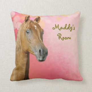 Brown Horse Girls Bedroom Custom Pillow