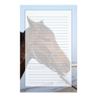 Brown horse head stationery