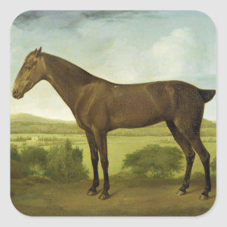 Brown Horse in a Hilly Landscape, c.1780-1800 (oil Square Sticker