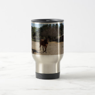 Brown Horse in Los Alamos, CA Stainless Steel Travel Mug