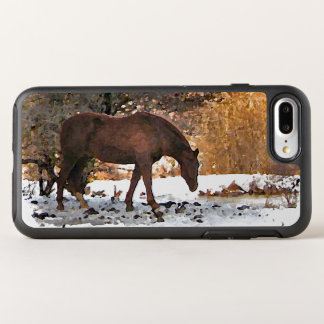 Brown Horse in Winter Animal OtterBox Symmetry iPhone 8 Plus/7 Plus Case