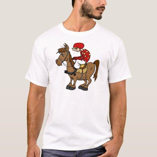 Brown Horse Jockey T-Shirt