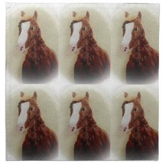Brown Horse Napkin