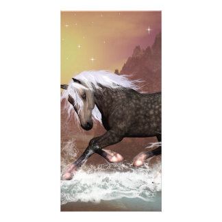 Brown horse picture card