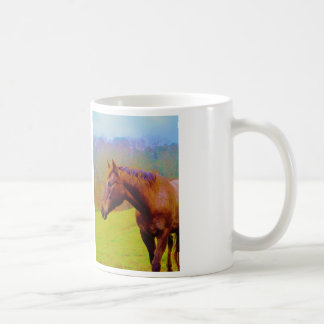 Brown Horse & Rainbow Forest Mugs