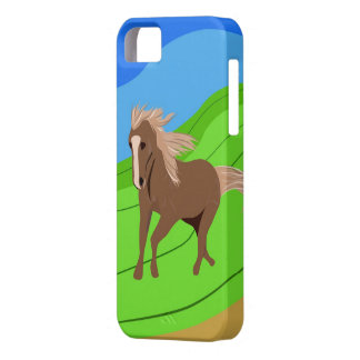 Brown Horse Running with mane & tail blowing wind Barely There iPhone 5 Case
