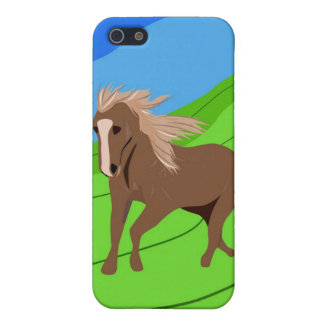 Brown Horse Running with mane & tail blowing wind Case For The iPhone 5