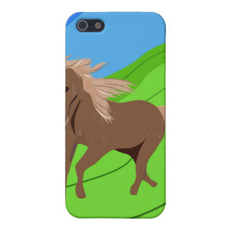 Brown Horse Running with mane & tail blowing wind iPhone 5 Covers