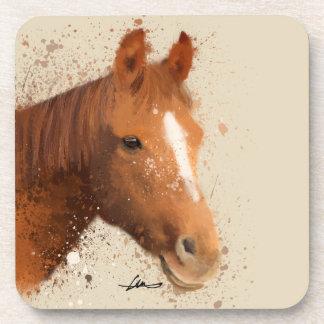 Brown Horse Watercolour Coaster