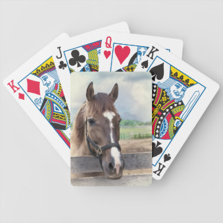 Brown Horse with Bridle Deck of Playing Cards
