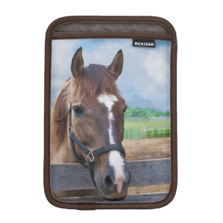 Brown Horse with Bridle iPad Mini Sleeve