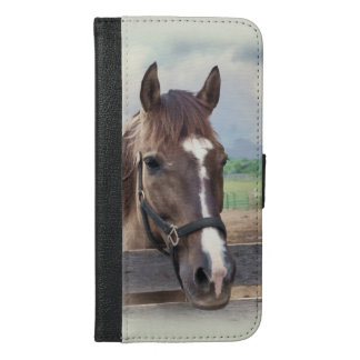 Brown Horse with Halter iPhone 6/6s Plus Wallet Case