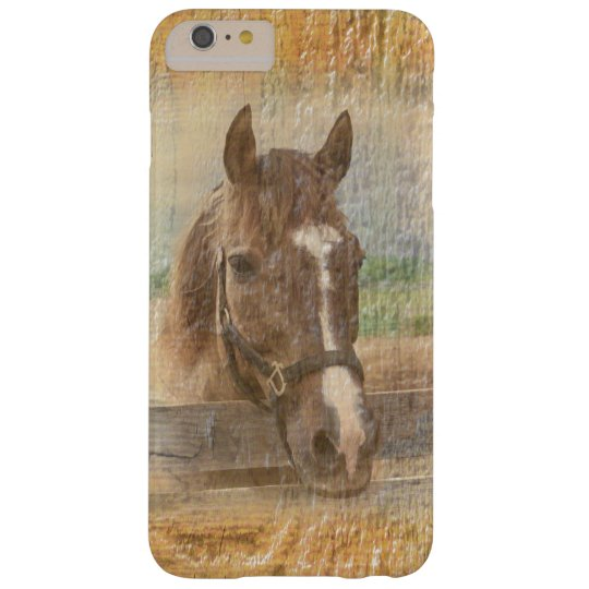 Brown Horse with Halter on Old Wood Barely