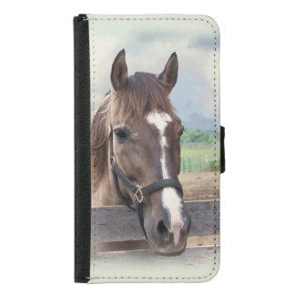 Brown Horse with Halter Samsung Galaxy S5 Wallet Case