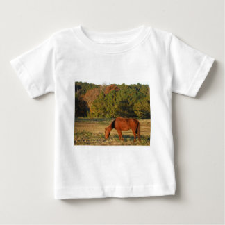 Brown Horse with Pine Trees Tshirt
