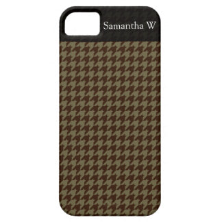 Brown Houndstooth Handsome Gentlemen's Pattern iPhone 5 Cases