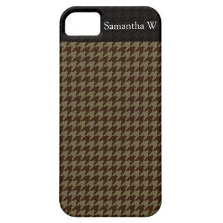 Brown Houndstooth Handsome Gentlemen's Pattern iPhone 5 Cover