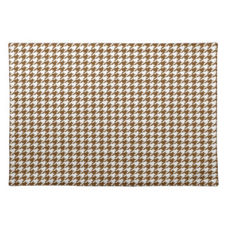 Brown Houndstooth Placemat
