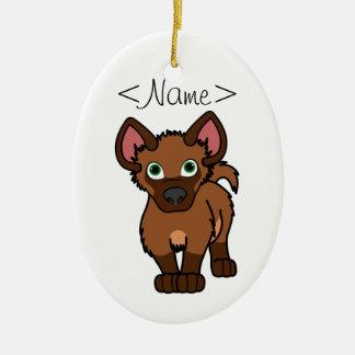 Brown Hyena Cub Christmas Ornament
