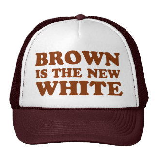 Brown is the new white! mesh hat