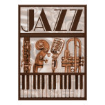 Brown Jazz Music Poster