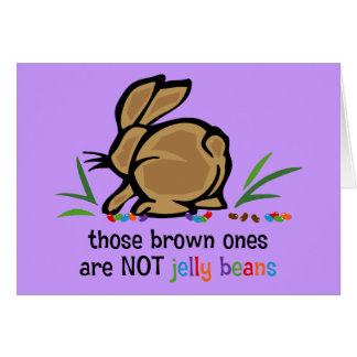 Brown Jelly Beans Card