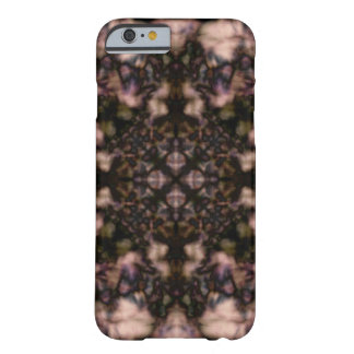 Brown kaleidoscope pattern barely there iPhone 6 case