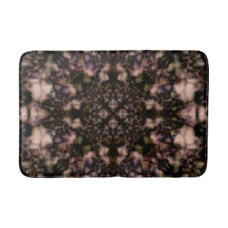 Brown kaleidoscope pattern bath mat