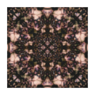 Brown kaleidoscope pattern canvas print