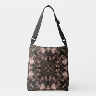 Brown kaleidoscope pattern crossbody bag