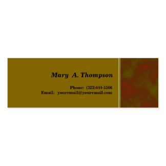 Brown Khaki goldenrod  texture side border Pack Of Skinny Business Cards