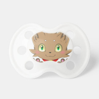 Brown Kitty Baby Pacifier