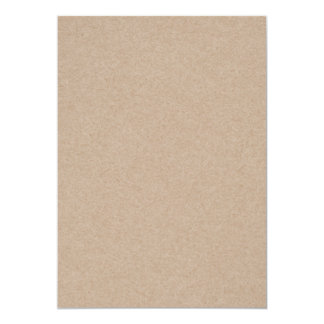 Brown Kraft Paper Background Printed 13 Cm X 18 Cm Invitation Card