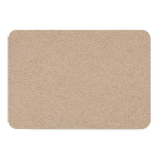 Brown Kraft Paper Background Printed 9 Cm X 13 Cm Invitation Card