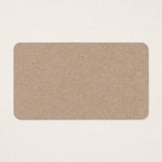 Brown Kraft Paper Background Printed Business Card