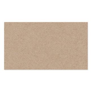 Brown Kraft Paper Background Printed Pack Of Standard Business Cards