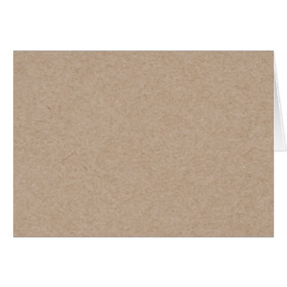 Brown Kraft Paper Background Printed Card