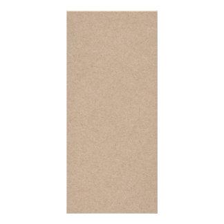 Brown Kraft Paper Background Printed Custom Rack Card