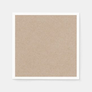 Brown Kraft Paper Background Printed Disposable Napkins